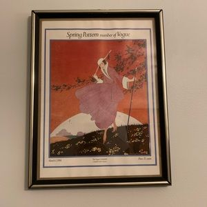 Vintage Vogue Magazine Cover Poster March 1916
